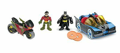 Batman Classic Batmobile & Robin Cycle Fisher-Price DC Super Friends Imaginext