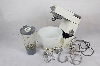 Kenwood Chef Stand Mixer + Glass Bowl, Blender & attachements - Vintage Working