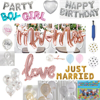 Wedding / Party Balloons - Rose Gold, Latex, Foil, Confetti Balloons,Accessories