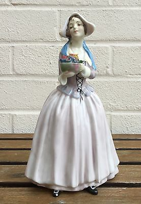 Rare Royal Doulton -Dorcas- Early Lady Character Figure Hn1490 -Lilac Colourway-