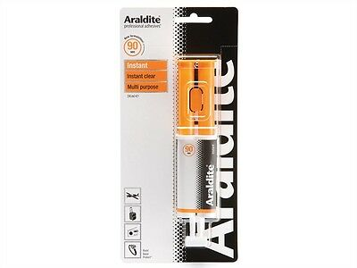 6 x Araldite INSTANT Clear Solvent Free Strong Adhesive Glue 24ml Syringe