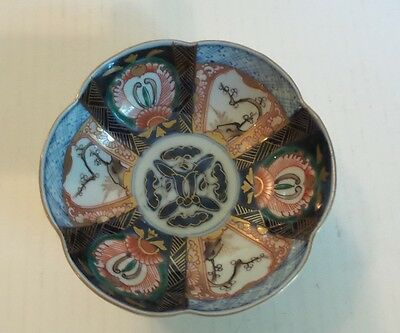 "19th C. ANTIQUE JAPANESE IMARI 6-LOBED 5.25"" BOWL, MEIJI PERIOD,  c. 1868-1913"