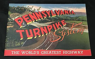 Vntg Pennsylvania Turnpike Highway System Colorful Pictures Souvenir Book 1941