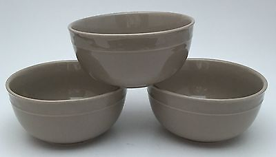 3 Food Network Stoneware Fontina Taupe Soup Cereal Bowls
