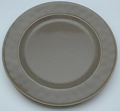 2 Food Network Stoneware Fontina Taupe Dinner Plates