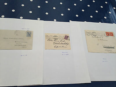 Finland 3 early letters interesting items 1920/1930 period