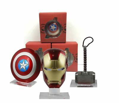 Set Avengers - Escudo Capitan America, Casco Iron Man, Martillo Thor,