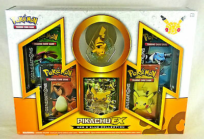 1x Pokemon Red and Blue Pikachu EX Collection Box - Generations Booster Packs