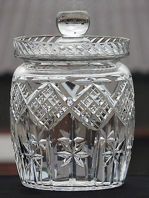 Beautiful Cut Glass Crystal Cookie/pickle Jar With Lid