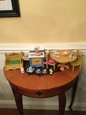 Fisher Price Briarberry Furniture Accessory Lot 18 Pieces Beautiful Condition