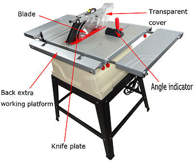 220V Woodworking Sliding Table Saw Equipment with Riving Knife Powermatic 1800W