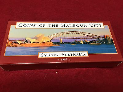 1997 Silver $10 2 coin set - 'Coins of the Harbour City'. - SPECIAL PRICE