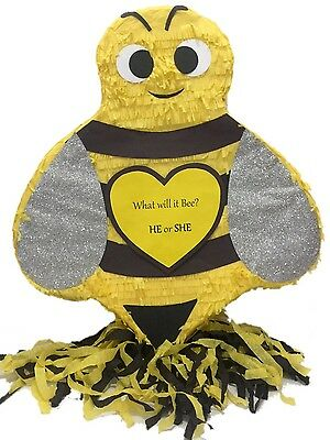 Bumble Bee Pinata, Gender Reveal What will it Bee? He or She? Bumble Bee Party