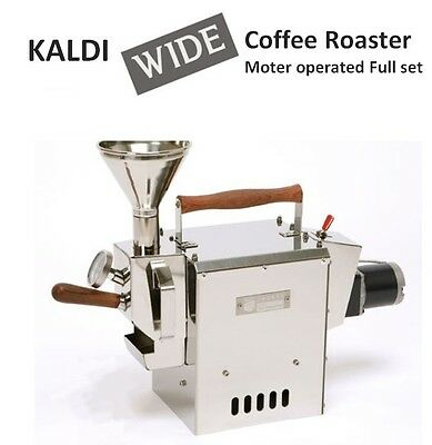 NEW KALDI WIDE Coffee Bean Roaster Full Set Moter Operated for Home small cafe