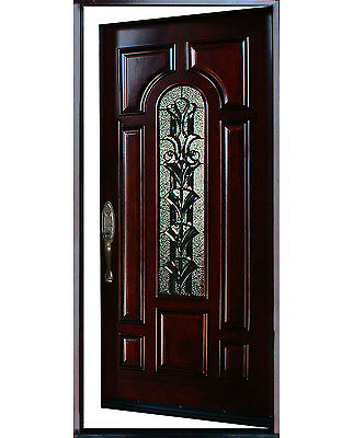 """Exterior Front Entry Single House Wood Door M280A 36""""X80 Right Hand Swing In"""
