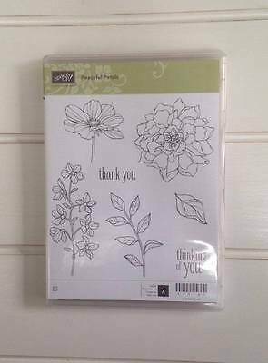 Stampin Up Peaceful Petals -  Retired Clear stamp set