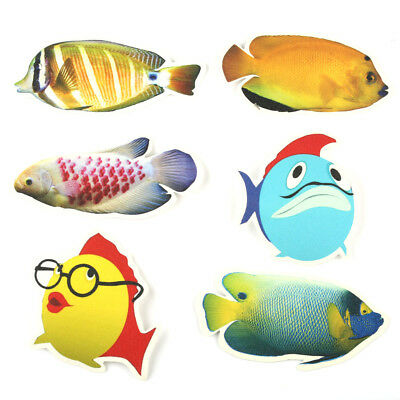 6 x Fish Stickers for the Tub Bath Toy Non Slip Kids Shower Child Game Anti Skid