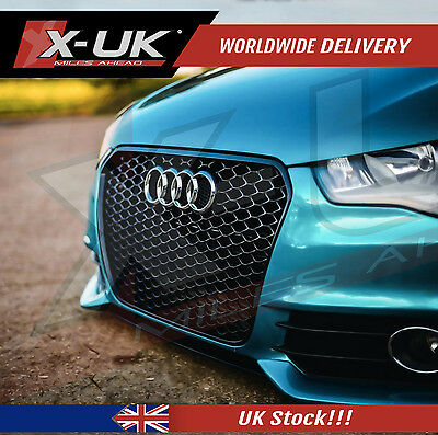 Rs1 Style Front Grill Gloss Black For Audi A1 2010 - 2014