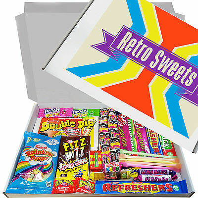 Retro Sweets Gift Box Birthday Valentine's Present Candy Full Treats Kids Party