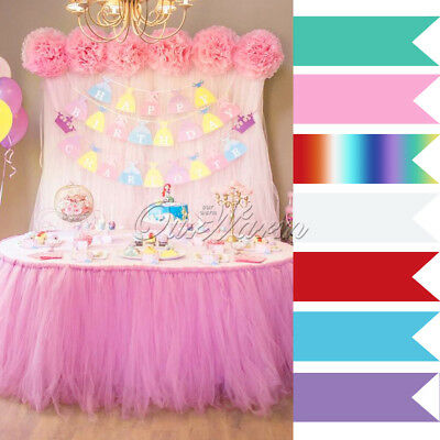 1/2 Pricess TUTU Tulle Table Skirts for Xmas Wedding Party Birthday Baby Shower