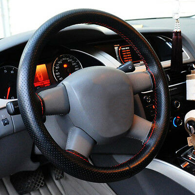 36-40cm Cars Vehicles Steering Wheel Cover & Needle Thread Leather Hand Sewn GT