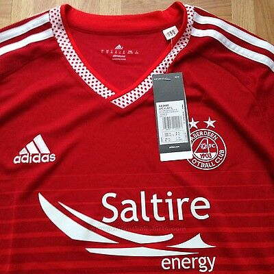 BRAND NEW Aberdeen Football Shirt 2015/16 Home Top Soccer Jersey Dons size:3XL