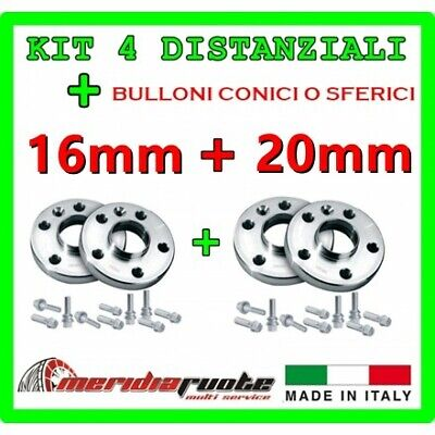 KIT 4 DISTANZIALI PER AUDI TT ROADSTER (8N) 1998-2007 PROMEX ITALY 16mm + 20mm