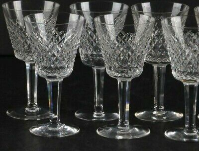 Beautiful Set of 6 Waterford Crystal Alana Claret Wine Glasses