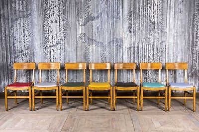 Vintage Colourful Upholstered Cafe Chairs Vintage Wooden Restaurant Seating