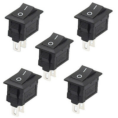 5Pcs 2 Pin Snap-in On/Off Position Snap Boat Rocker Switch 12V/110V/250V M1EG
