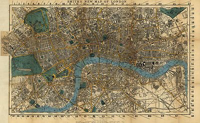 1860 Map of London England