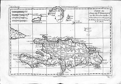 Antique maps, Carte de l'isle de St Domingue une des Grandes Antilles