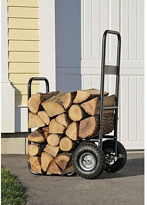 Firewood Cart Fire Wood Dolly Caddy Mover Rolling Hauler Heavy Duty Carrier NEW