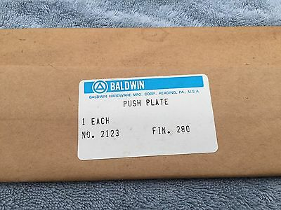 Baldwin Door Push Plate No.2123