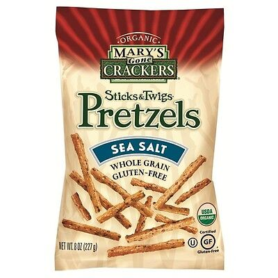 Mary's Gone Crackers Sticks and Twigs Pretzels Sea Salt -- 240ml. Brand New