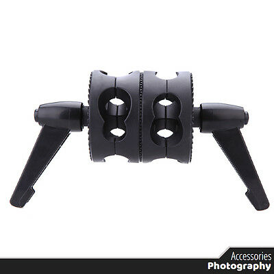 Photography - DUAL Grip Swivel Head Bracket Clamp - Photo Studio Holder Stand