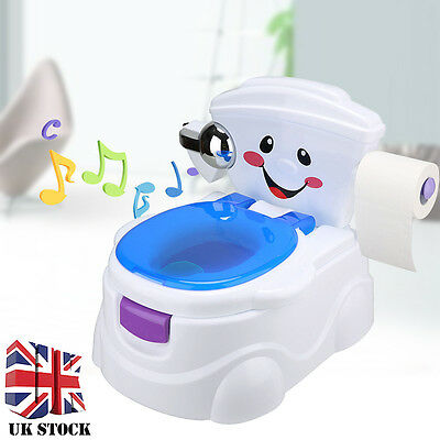 Set Lovely Smiley Face Toddler Toilet Pee Training Potty Urinal Seat with Music