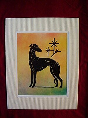 Print of Stylized multi medium Whippet Greyhound   #32 by Cindy A. Conter