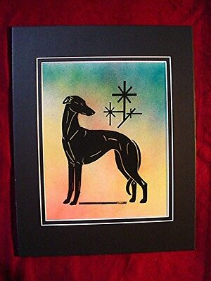 Print of Stylized multi medium Whippet Greyhound  #30 by Cindy A. Conter