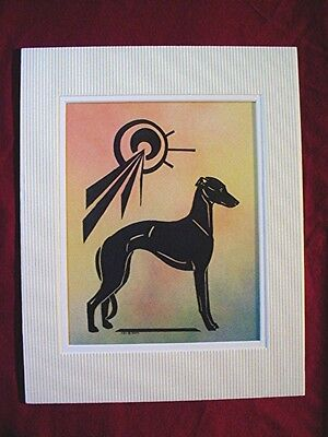 Print of Stylized multi medium Whippet Greyhound  #31 by Cindy A. Conter