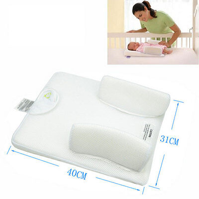 Baby Safety Soft Anti Roll Pillow Sleep Positioner Prevent Head Cushion White