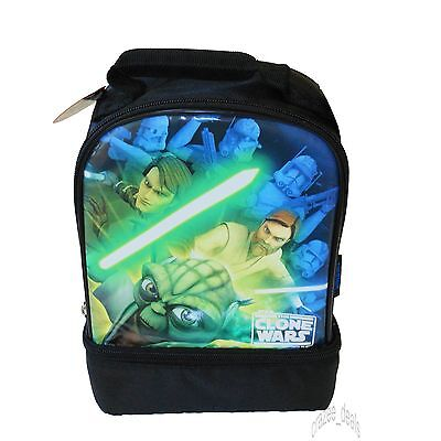 Star Wars The Clone Wars Thermos Insulated Lunch Bag Box Dual Compartment NEW