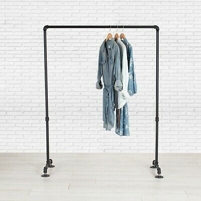 Industrial Pipe Clothing Rack by William Robert's Vintage