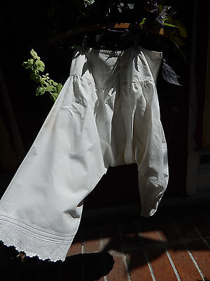 Antique Victorian Edwardian Bloomers  Split Drawers Pantaloons Lingerie ID'd