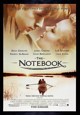 THE NOTEBOOK CineMasterpieces ORIGINAL MOVIE POSTER DS RYAN GOSLING ROMANCE 2006