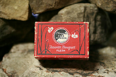 Plough's Face Powder Box Original Almost Full of Powder Very Very Old HTF