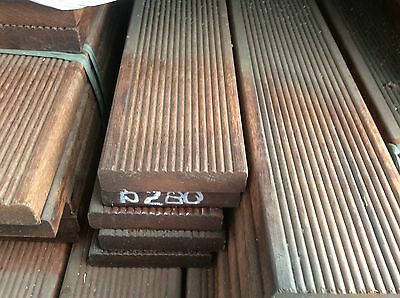 Brazillian mahogany hardwood decking 90x19