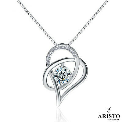 Stunning New 925 Sterling Silver Pendant Necklace Chain Womens Jewellery Set UK