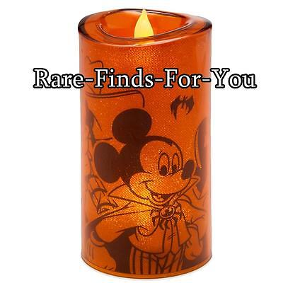 Disney Parks Mickey Mouse and Friends Faux-Flame Light-Up Halloween Candle (NEW)