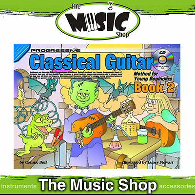 New Progressive Young Beginner Classical Guitar Book 2 with CD